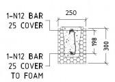 Standard Lintel Detail 300mm - Insulbrick ICF 250