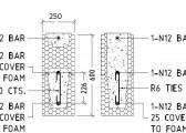 Standard Lintel Detail 600mm - InsulbrickICF 250
